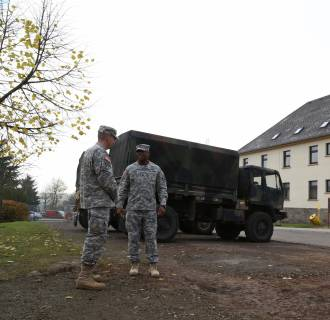 Image: U.S. military returning from Ebola-related missions in WestAfrica will be quarantined at Smith Barracks in Baumholder, Germany for21 days.