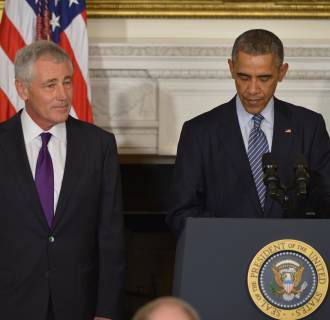 Image: US President Barack Obama and Defense Secretary Chuck Hagel