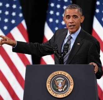 Image: Obama Discusses His Immigration Plan At Visit To Las Vegas High School