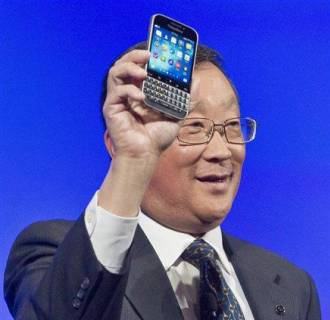 Image: BlackBerry CEO John Chen introduces the BlackBerry Classic