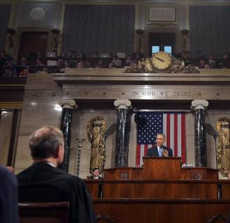 Image: President Barack Obama delivers his State of the Union address
