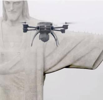 Drone Brazil Christ the Redeemer