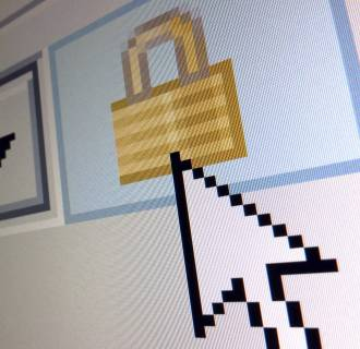 Image: File photo of a lock icon, signifying an encrypted Internet connection