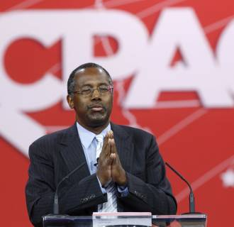 Image: Carson speaks at the Conservative Political Action Conference (CPAC) in Maryland