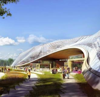 Image: Rendering of Google's proposed new campus