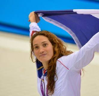 IMAGE: Olympic gold medal swimmer Camille Muffat