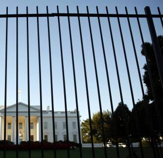 Image: File photo of the White House seen from outside the north lawn fence in Washington