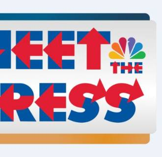 Meet the Press logo using Hillary Bold