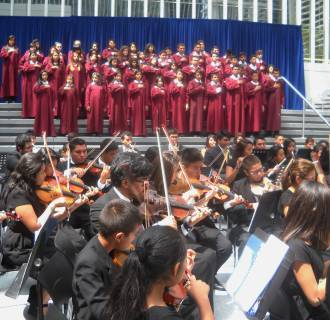 Image: The Don Bosco Youth Symphony Orchestra and Chorus