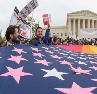 Image: US-COURT-GAY-MARRIAGE-RIGHTS-MARCH