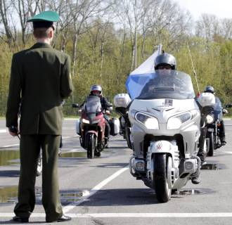Image: Russian motorcycle club Night Wolves in Belarus