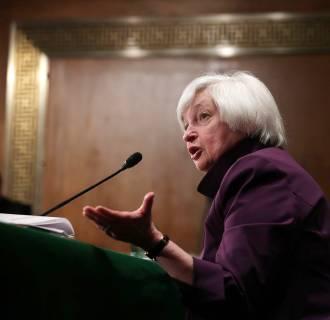 Image: Janet Yellen Presents Semiannual Monetary Policy Report At Senate Hearing