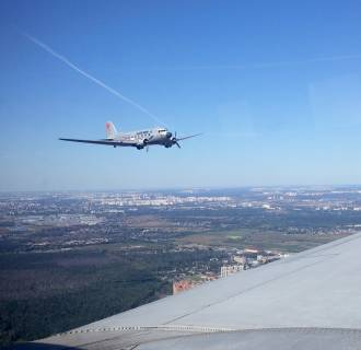 Image: DC-3 flying over Moscow