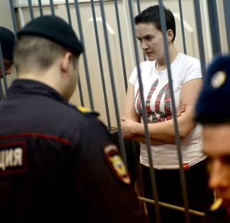 Image: Detained Ukrainian helicopter pilot Nadiya Savchenko