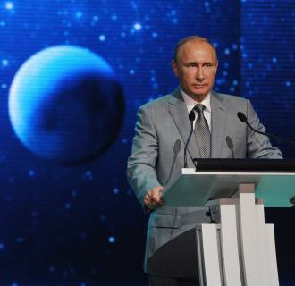 Image: Vladimir Putin delivers a speech in Sochi, Sep 1.
