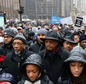 Image: Protests continue over video release of Chicago police officer Jason Van Dyke shooting 17 year old Laquan McDonald.