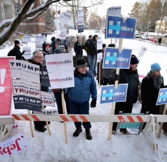 Image: New Hampshire Voters Head To The Polls For State's