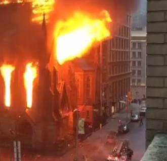 IMAGE: Serbian Orthodox church fire