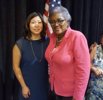 Rep. Grace Meng with Democratic National Committee Interim Chair Donna Brazile.