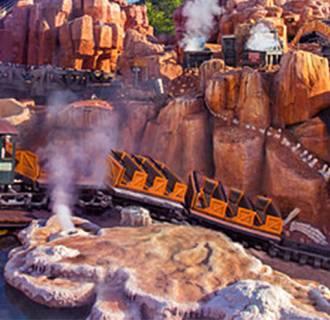 Image: The Big Thunder Mountain Railroad roller coaster at Walt Disney World in Orlando