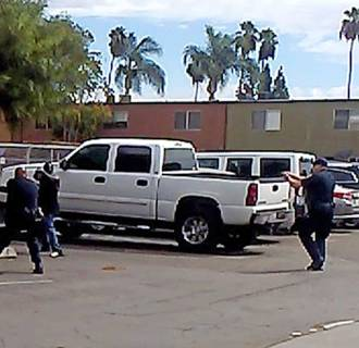 Image: El Cajon, California man shot and killed by police