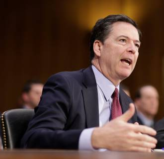 Image: FBI Director James Comey testifies to the Senate Select Committee on Intelligence hearing on ?EURoeRussia?EUR(TM)s intelligence activities