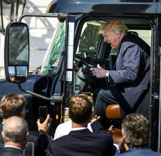 Image: Trump Meets With Truckers While Republicans Brace for Health Care Vote