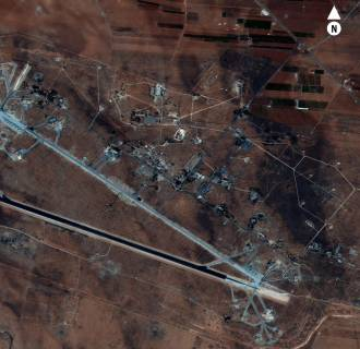 Image: Aerial of Shayrat Airfield in Homs governorate