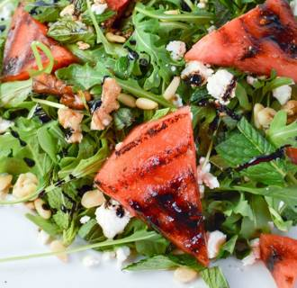 Image: Grilled watermelon salad