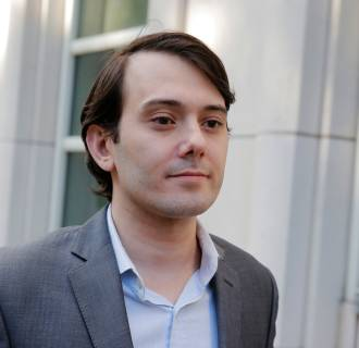 Image: Martin Shkreli, former chief executive officer of Turing Pharmaceuticals and KaloBios Pharmaceuticals Inc, departs after a hearing at U.S. Federal Court in Brooklyn, New York