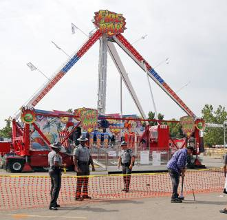 Image: fire ball ride at Ohio State Fair