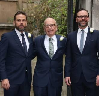 Image: Lachlan Murdoch, Rupert Murdoch and James Murdoch