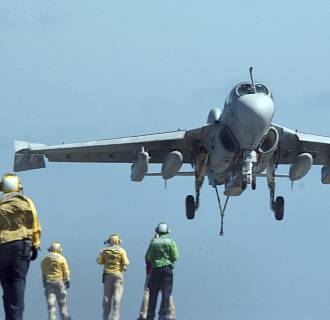 Image: An EA-6B Prowler, assigned to the
