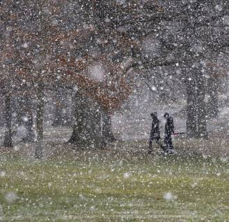 Image: Fourth Nor'easter Snow
