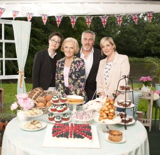 Image: Hosts Sue Perkins, Mary Berry, Paul Hollywood and Mel Giedroyc on The Great British Baking Show.