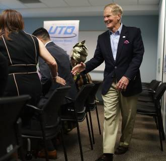 Image: Florida Sen. Bill Nelson Meets With Education Leaders At Campaign Event