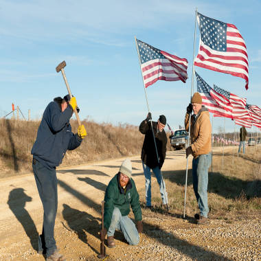 No rest for 'Flag Man' who pays tribute to fallen soldiers