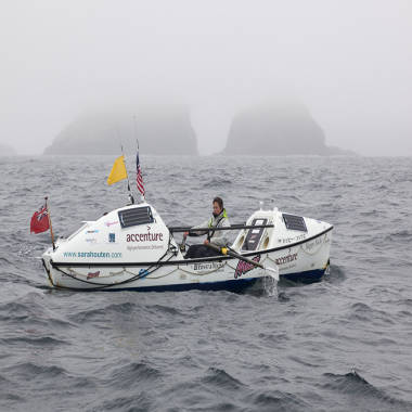 'Absolutely ecstatic': British woman is first to row solo from Japan to Alaska
