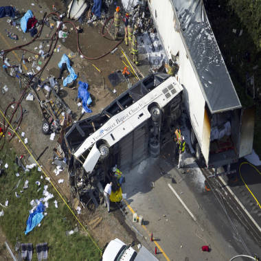 No NTSB investigators for deadly bus crash because of government shutdown: official