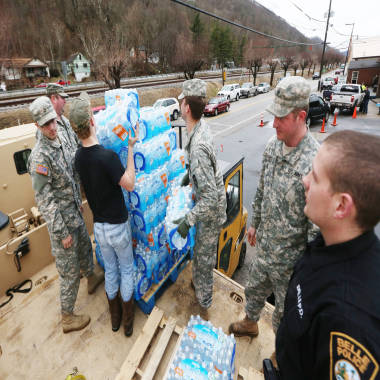 Hope flows as West Virginia water showing signs of improvement after chemical spill