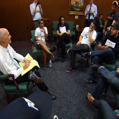 Fla. governor tells protesters he won't push for changes in self-defense law