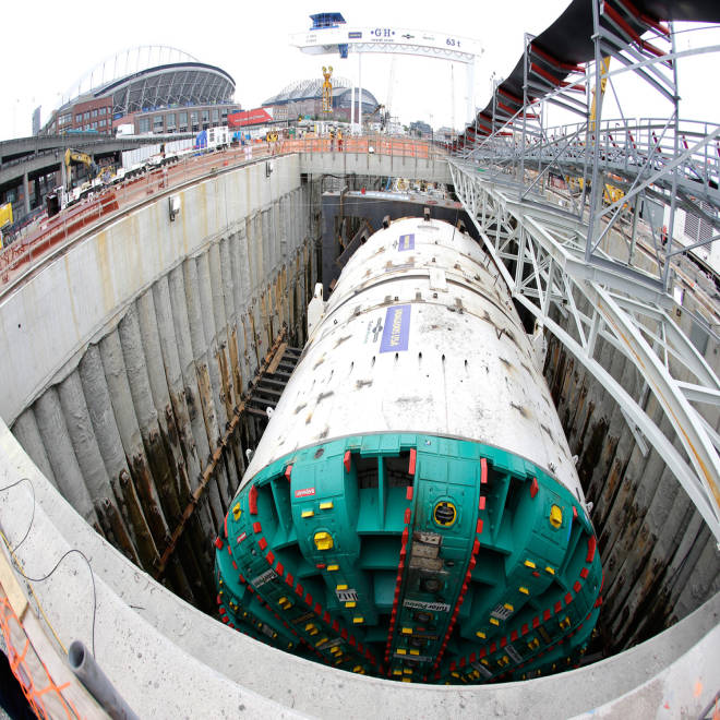 The massive Big Bertha drill in Seattle, stopped by a ... tiny steel pipe.