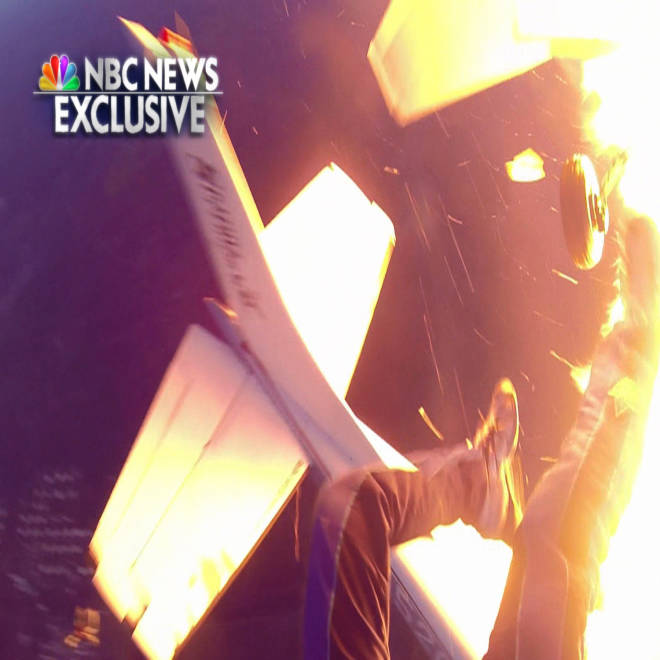 'No control': Skydivers' pilot recounts death-defying leap from burning plane