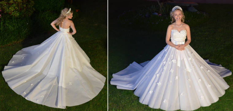 10 finalists of this year\'s toilet paper wedding dress contest