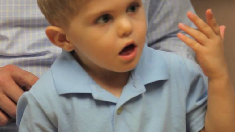 deaf boy 3 hears father s voice for the first time