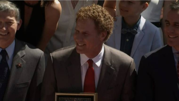 Will Ferrell accepts Hollywood Walk of Fame star, promises to polish it every day