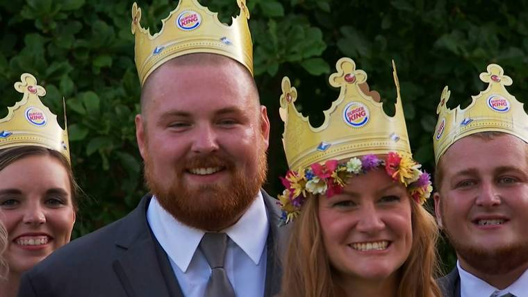 Joel Burger and Ashley King tie the knot in a 'whopper of a wedding'