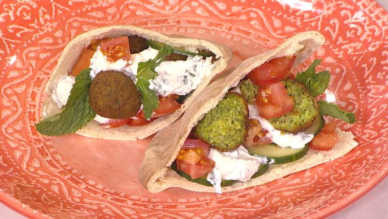 Make falafels out of peas for a veggie-filled, kid-friendly sandwich