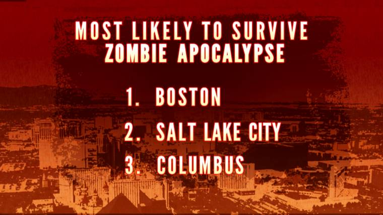 which us city would fare best after a zombie apocalypse