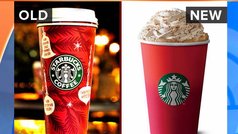 Starbucks Christmas Cups.Starbucks Red Holiday Cups Have Critics Claiming A War On